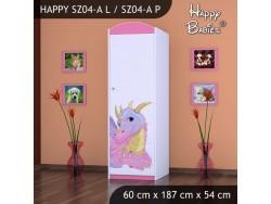 SZAFA HAPPY SZ04-A RÓŻOWY SMOK