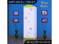 SZAFA HAPPY SZ04-B KSIĘŻNICZKA Z MOTYLKAMI
