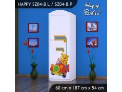 SZAFA HAPPY SZ04-B MISIU W CZERWONYM AUCIE