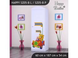 SZAFA HAPPY SZ05-B MISIU W CZERWONYM AUCIE