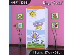 SZAFA HAPPY SZ06-B KWIATEK I MOTYL
