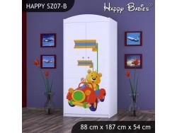 SZAFA HAPPY SZ07-B MISIU W CZERWONYM AUCIE