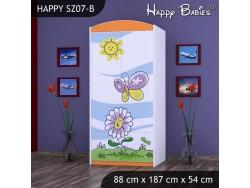SZAFA HAPPY SZ07-B KWIATEK I MOTYL