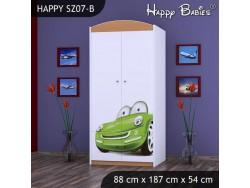 SZAFA HAPPY SZ07-B ZIELONE AUTO
