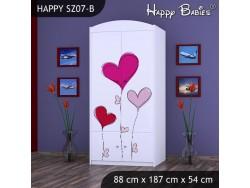 SZAFA HAPPY SZ07-B SERCE NA BALONIKACH