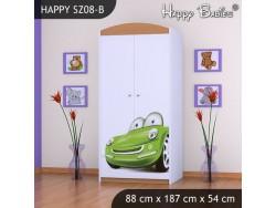SZAFA HAPPY SZ08-B ZIELONE AUTO