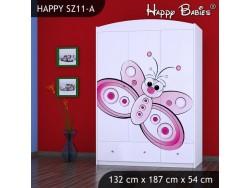 SZAFA HAPPY SZ11-A MOTYLEK