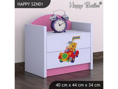 SZAFKA NISKA HAPPY SZN-01 MISIU W CZERWONYM AUCIE