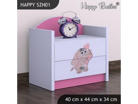 SZAFKA NISKA HAPPY SZN-01 RÓŻOWY SŁOŃ Z SERCEM