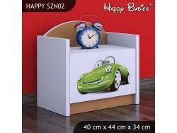 SZAFKA NISKA HAPPY SZN02 ZIELONE AUTO