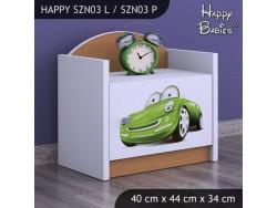 SZAFKA NISKA HAPPY SZN03 ZIELONE AUTO