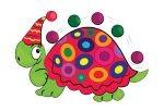 Kolorowy żółw